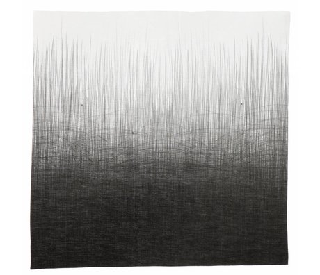Ferm Living Servetten set van vier 'PEN NAPKINS' 40x40cm grijs/wit pennenstreep print 100% katoen