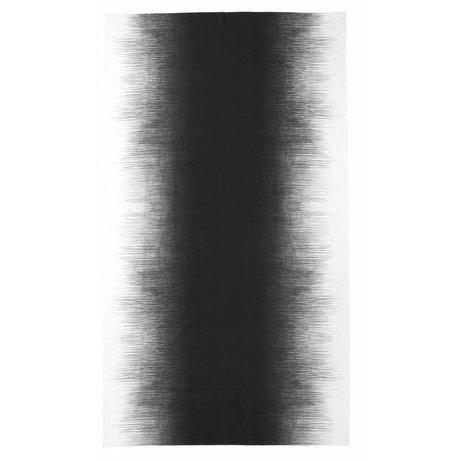 Ferm Living Tafelkleed 'PEN TABLE CLOTH' 140x240cm grijs/wit pennenstreep print 100% katoen