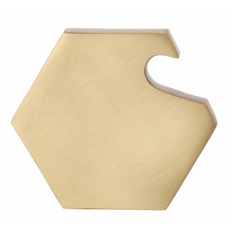 Ferm Living Flessenopener Hexagon bottle opener messing 7x6x1cm