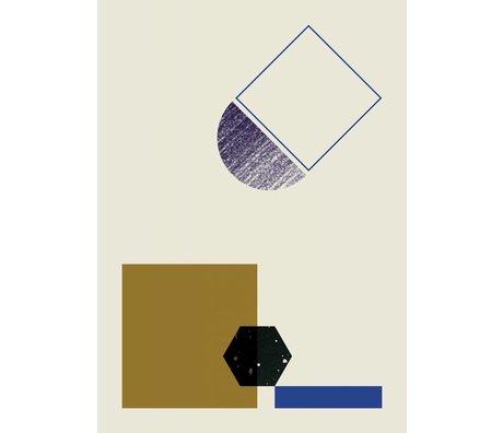 Ferm Living Poster GEOMETRY 3 papier 50x70cm multicolor