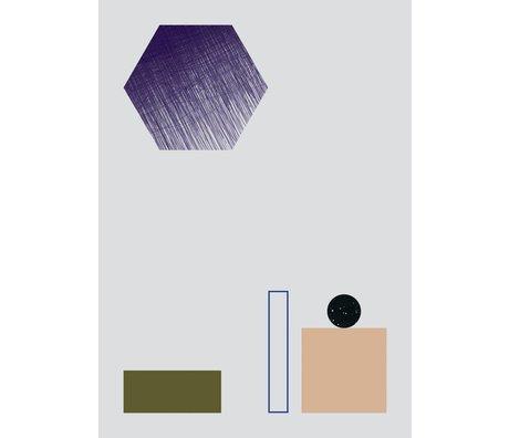 Ferm Living Poster GEOMETRY 2 papier 50x70cm multicolor
