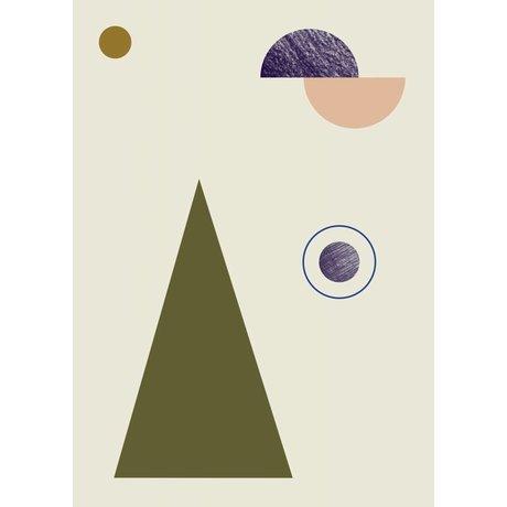 Ferm Living Poster GEOMETRY 1 papier 50x70cm multicolor