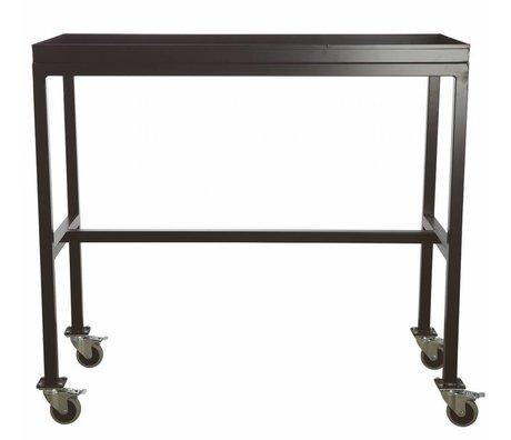 Housedoctor Trolley 'Rolling table' zwart metaal 100x45x90cm