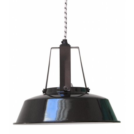 HK-living Hanglamp Workshop M zwart 29,5x29,5x24cm
