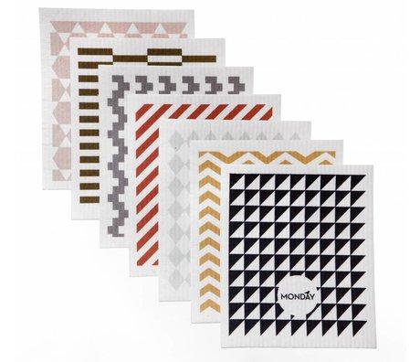 Ferm Living Vaatdoeken multicolor cellulose/katoen 17x30 cm