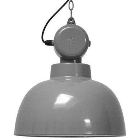 """HK-living hanglamp grijs metaal Ø40x45cm, industriële lamp """"Factory"""" M"""