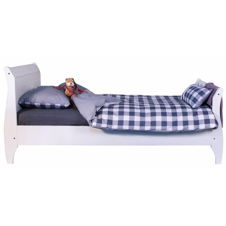 LEF collections Bed 'Joy' 1 persoons wit grenen 99x222x95cm