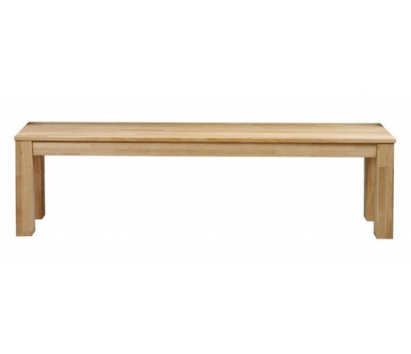 LEF collections Bank 'Largo' naturel onbehandeld eiken 160x46x30cm