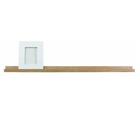 LEF collections Fotolijst plank 'Studio' bruin naturel onbehandeld eiken 120x5x10cm