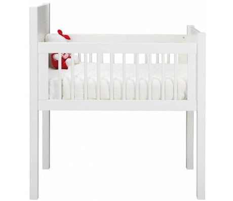 LEF collections Wieg wit grenen 87x47x108/95cm, CRADLE PINE WHITE