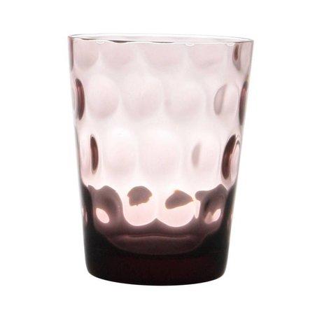 HK-living Glas paars smoke 8,5x8,5x11cm