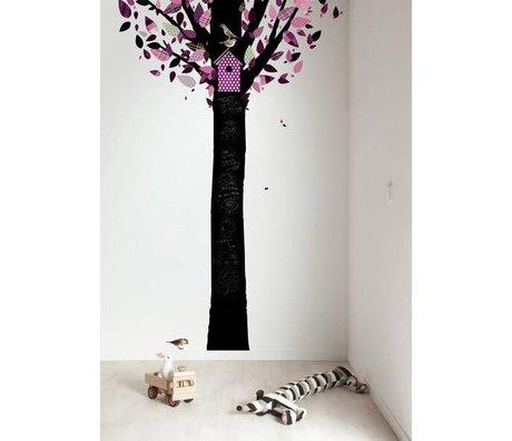 KEK Amsterdam Schoolbordsticker 185x260cm zwart/paars Chalkboard Tree schoolbordfolie
