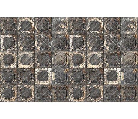 Merci Tegel behang Brooklyn Tins zwart/wit/roest Tin-07