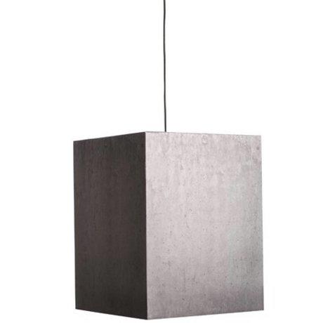 Zuiver Hanglamp grijs karton 38x38x48cm, Heavy Light beton