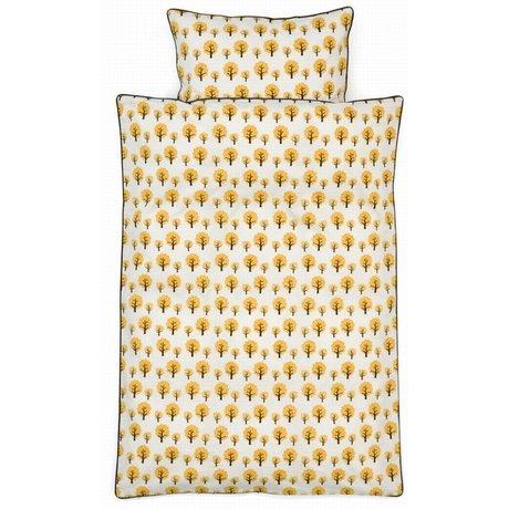 Ferm Living Dekbedovertrek dotty geel katoen 3 maten