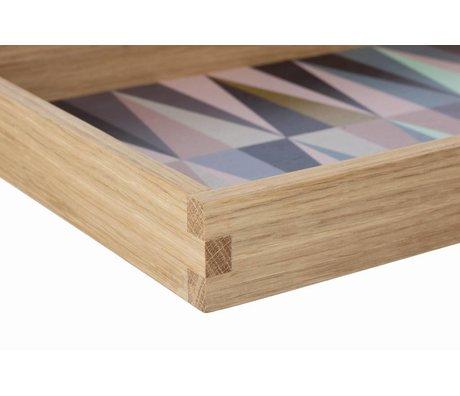 Ferm Living Dienblad hout multicolour 30x45cm, spear tray large