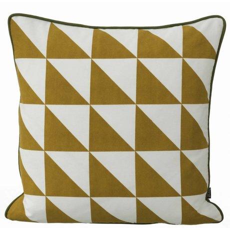 Ferm Living Sierkussen Large Geometry geel 50x50cm