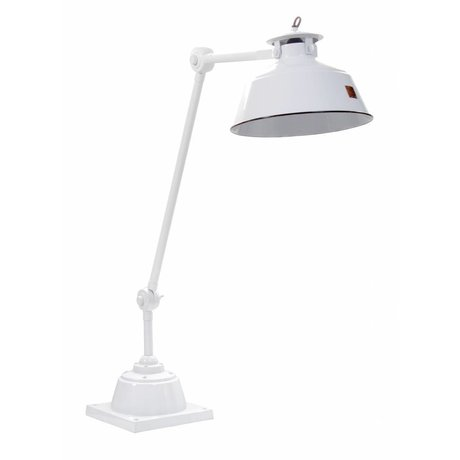 HK-living Bureaulamp wit metaal 83x26cm, 'Studio'