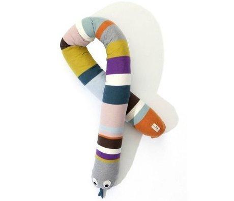 Ferm Living Sierkussen Mr. Snake multicolour katoen 180cm