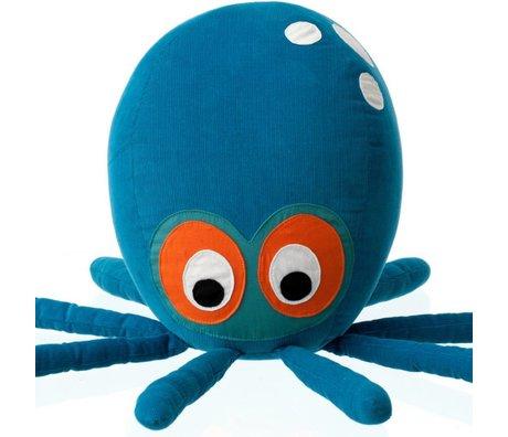 Ferm Living Kussen/knuffel Octopus blauw katoen 55x25cm