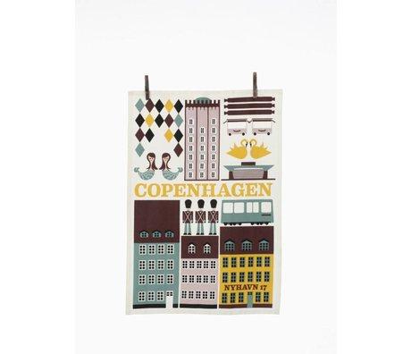 Ferm Living Theedoek Copenhagen multicolour 50x70cm