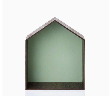 Ferm Living Pronkkastje Studio 2 bruin/groen 30x35cm