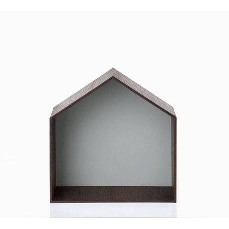 Ferm Living Pronkkastje Studio 4 bruin/grijs 30x30cm