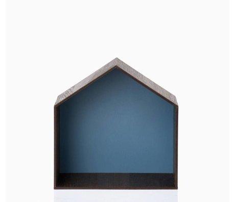 Ferm Living Pronkkastje Studio 1 bruin/blauw 30x30cm