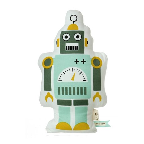 Ferm Living Sierkussen Robo klein groen 40cm