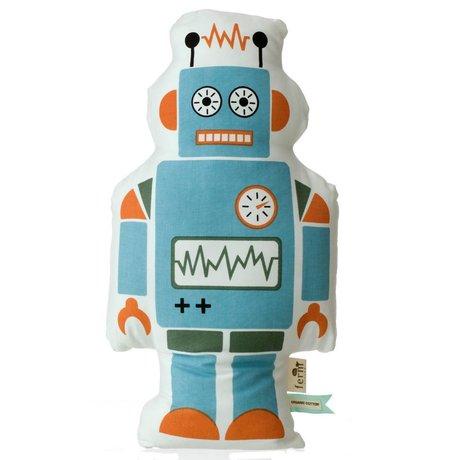 Ferm Living Sierkussen Robot blauw 50cm Robot