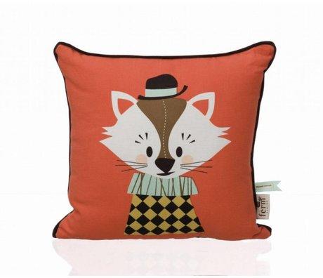 Ferm Living Sierkussen Aristo Katt oranje katoen 30x30cm