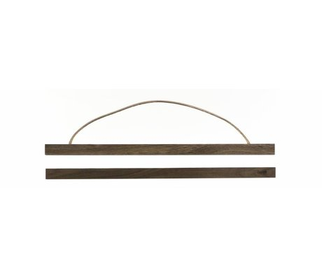Ferm Living Ophangsysteem voor posters Smoked oak hout 51x2 cm