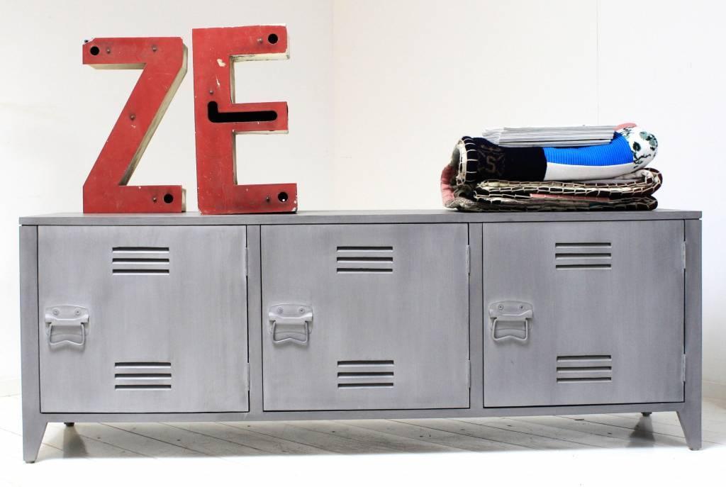 Kast Grijs Hout : Hk living tv meubel grijs hout 57x160x40cm lefliving.be