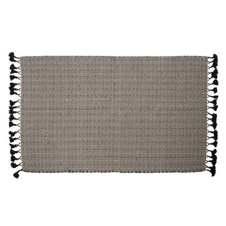 Zuiver Vloerkleed Ziggy zwart katoen 120x180cm