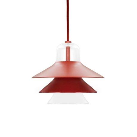 Normann Copenhagen Hanglamp Ikono rood gecoat staal glas ø20cm