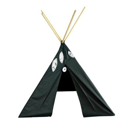 A Little Lovely Company Tent Tipi zwart katoen 100x100x100cm