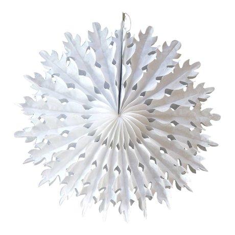 A Little Lovely Company Deco Fan ster wit papier Ø14cm