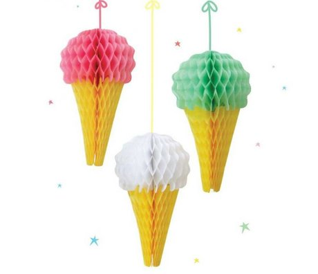 A Little Lovely Company Deco Honeycomb Ice Cream 14cm