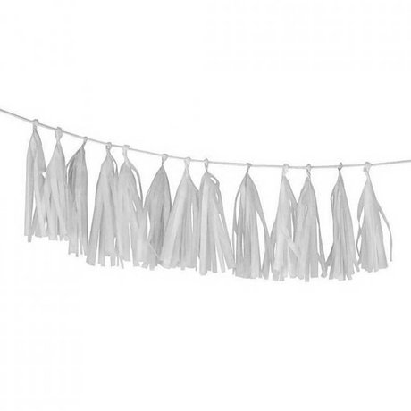A Little Lovely Company Slinger DIY Tassel Garland Snow White 12x36cm