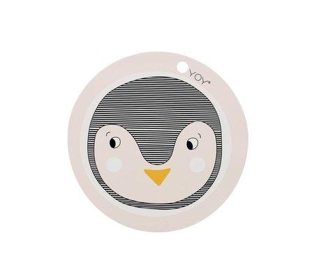 OYOY Placemat Pinguïn roze siliconen 39x0,15cm