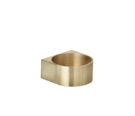 Ferm Living Kaarsenhouder Block brass goud 6,2x3cm