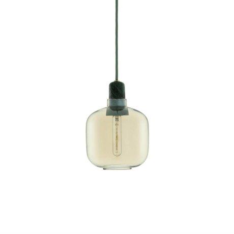 Normann Copenhagen Hanglamp Amp goud glas groen marmer Ø14x17cm