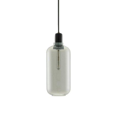Normann Copenhagen Hanglamp Amp zwart glas marmer Ø11,2x26cm
