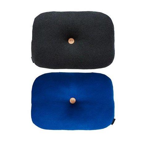 OYOY Sierkussen Bumble tweezijdig donker grijs blauw katoen 35x45cm