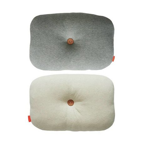OYOY Sierkussen Bumle tweezijdig wit grijs katoen 35x45cm