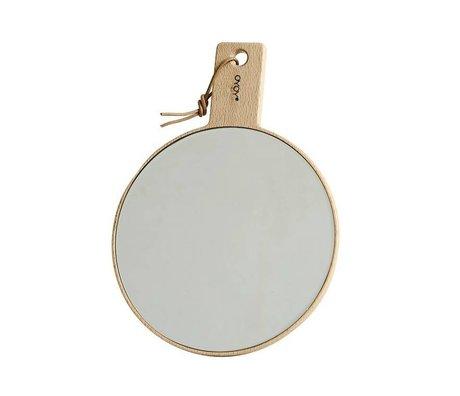 OYOY Spiegel Ping Pong naturel hout 18x24,5cm