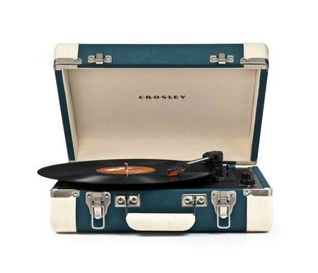 Crosley Radio Crosley Executive blauw créme 27x36x12cm
