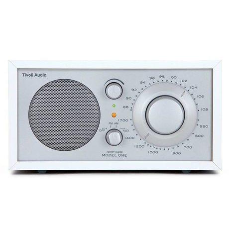 Tivoli Tafelradio One wit zilver 21,3x13,3xh11,4cm