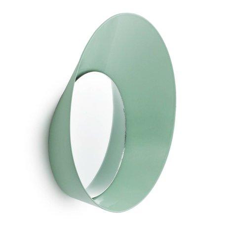 Normann Copenhagen Kapstok haak met spiegel Ready Hook mint groen staal ø20x5cm
