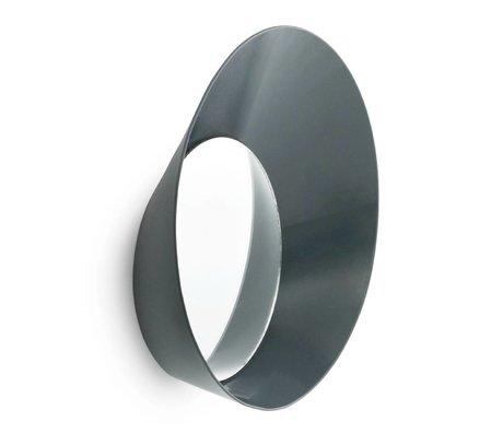 Normann Copenhagen Kapstok haak met spiegel Ready Hook grijs staal ø20x5cm